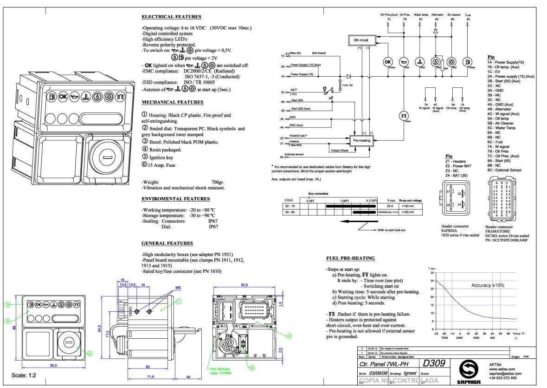 Control panel lombardini 7245464 kohler ed0072454640-s