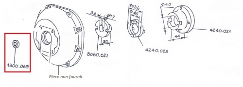 Anneau 5ld/8ld 9ld/11ld pompe hydraulique série 2 lombardini