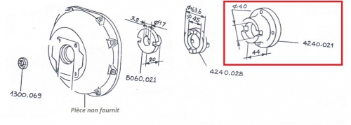 Accouplement 5ld 8ld 9ld 11ld lombardini 4240021