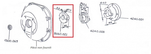 Demi accouplement 9ld 8ld 11ld 5ld lombardini 8060022