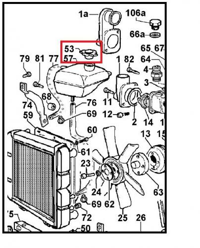Bouchon radiateur focs-chd ldw-lgw lombardini (ldw502