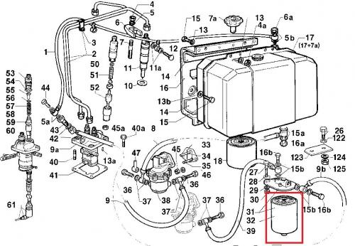 Fuel filter 12ld477-2 lombardini rd220 rd240 rd270 rd278