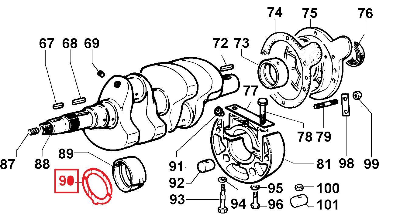 Cales lateral 5ld675-2 5ld825-2 5ld930-3 lombardini lda830