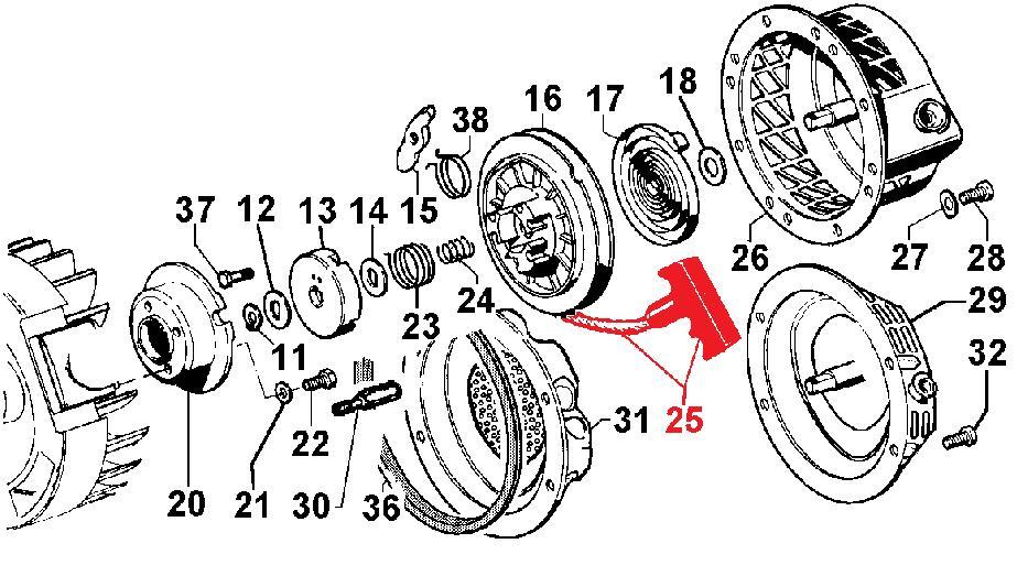 Poigné et corde im restyling lga 3ld 6ld 15ld lombardini