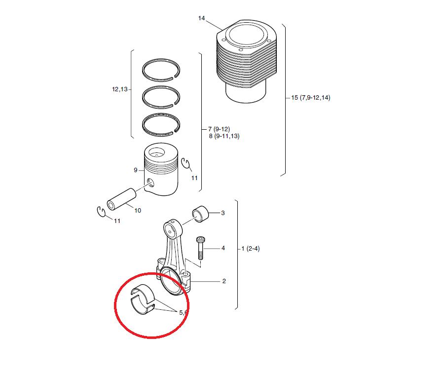 Coussinet bielle 2l41c 3l41c 4l41c hatz 03618401