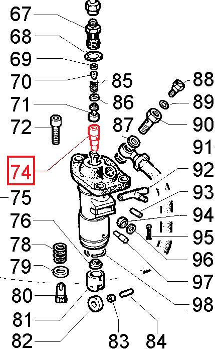 Piston pompe injection 3ld450 3ld510 4ld640 4ld705 4ld820