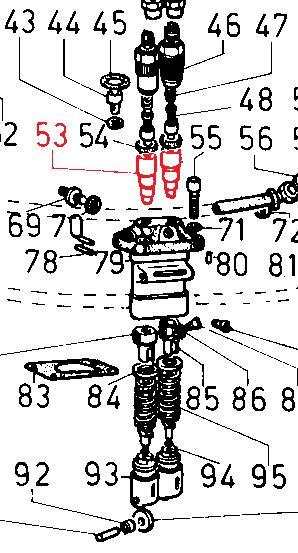 Piston pompe injection lombardini 3ld 4ld 5ld 8ld 9ld