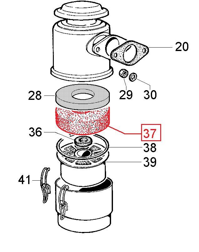 Mousse filtre air 3ld 4ld 7ld 8ld 9ld 15ld lombardini