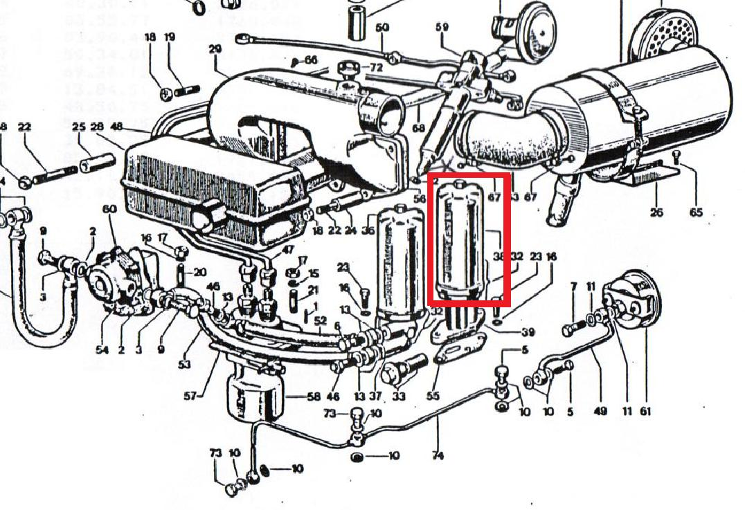 Oil filter dva920 dva1030 dva460 dva515 slanzi crd100