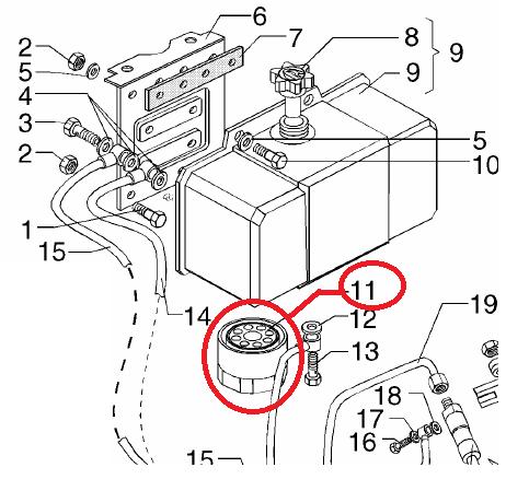 Fuel filter ruggerini rf120 rf121 rf140 (175r028