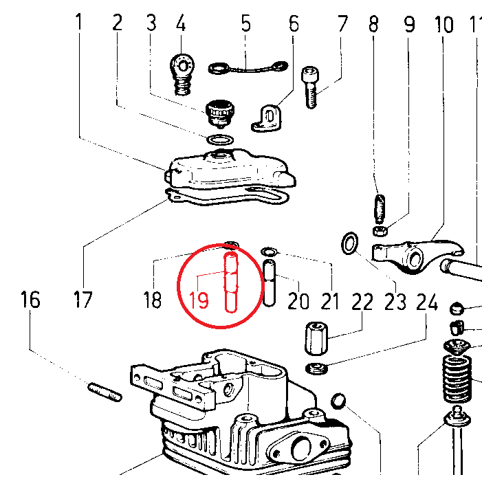 Guide soupape 4ld640 4ld705 4ld820 lda91 lda96 lda97