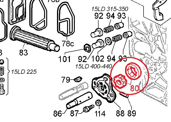 Pompe à huile 15ld225 15ld315 15ld350 15ld400 15ld440