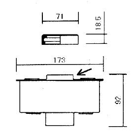Element filtre air 5ld 5ld 9ld 11ld lombardini (5ld675