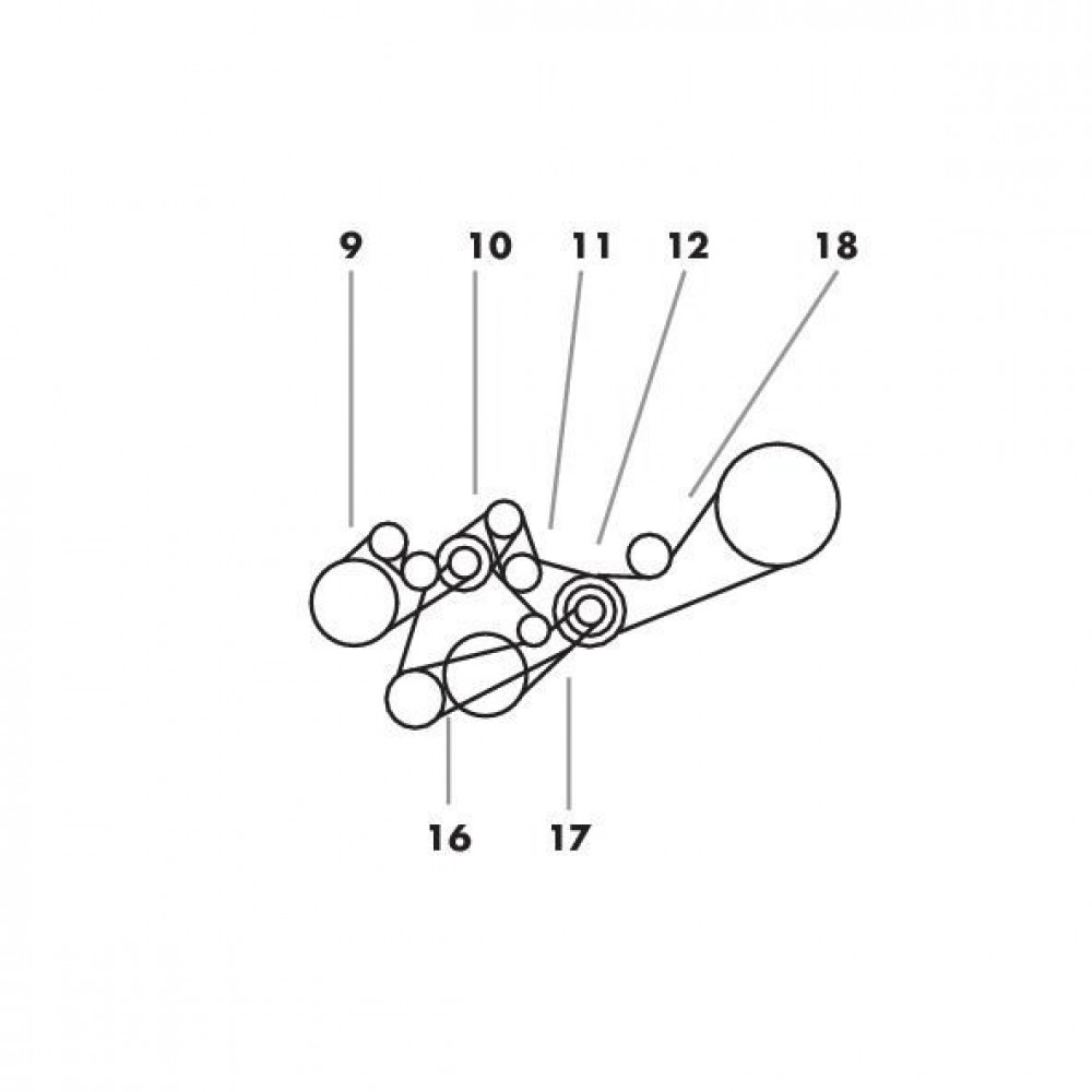 V-snaren passend voor Claas Dominator 86 in