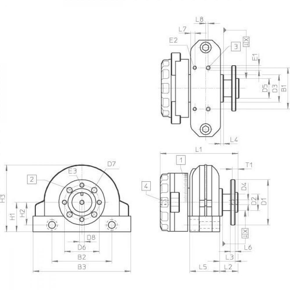 DSRL-..-...-P-FW holle flensmontage zonder magneet met