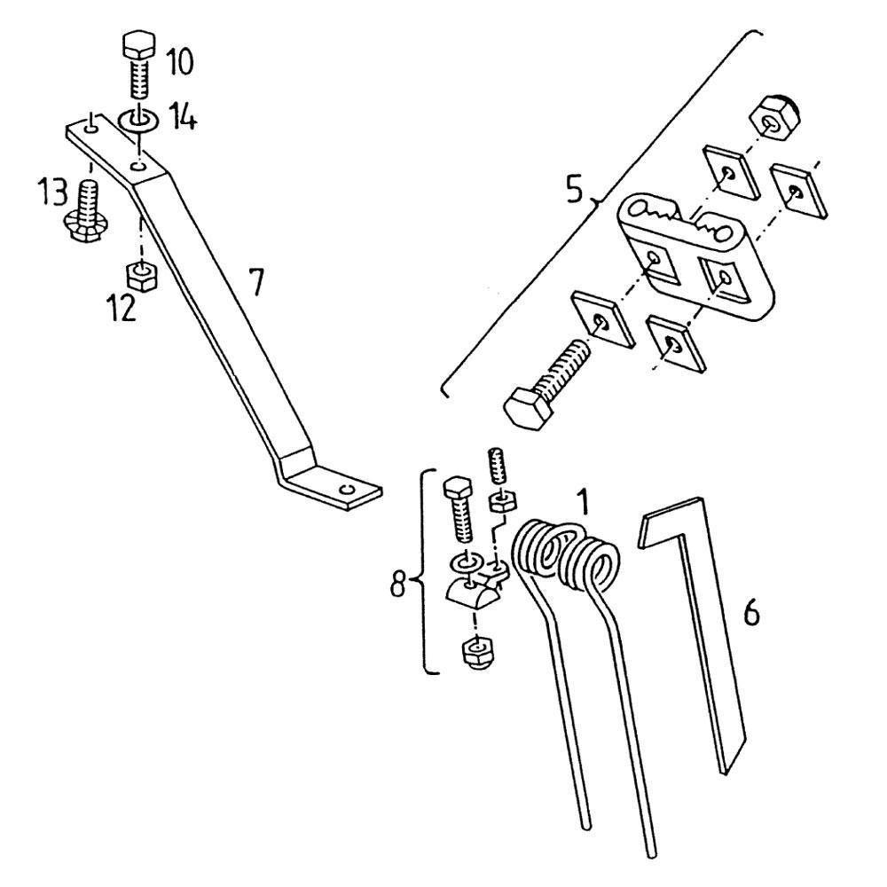 Tandarm en tanden passend voor Deutz-Fahr KH 3.52 DN Hydro