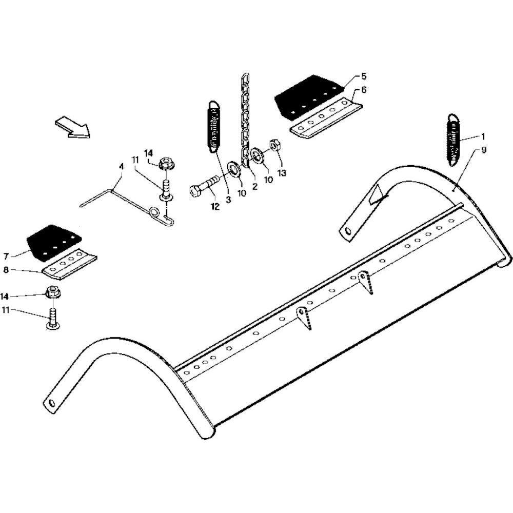 31 Gewasgeleider R+OC passend voor DEUTZ-FAHR RB 4.60 in