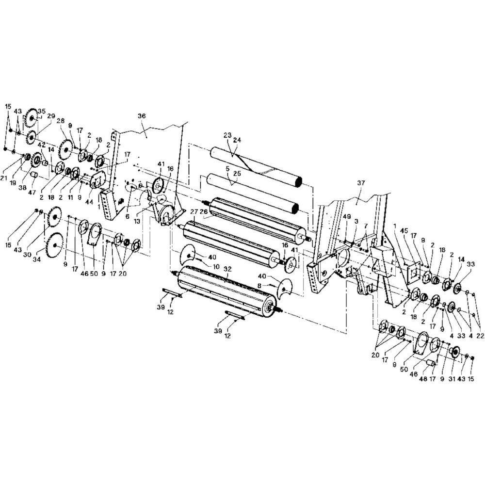 05 Rollen passend voor DEUTZ-FAHR RB 4.60 in Landbouw