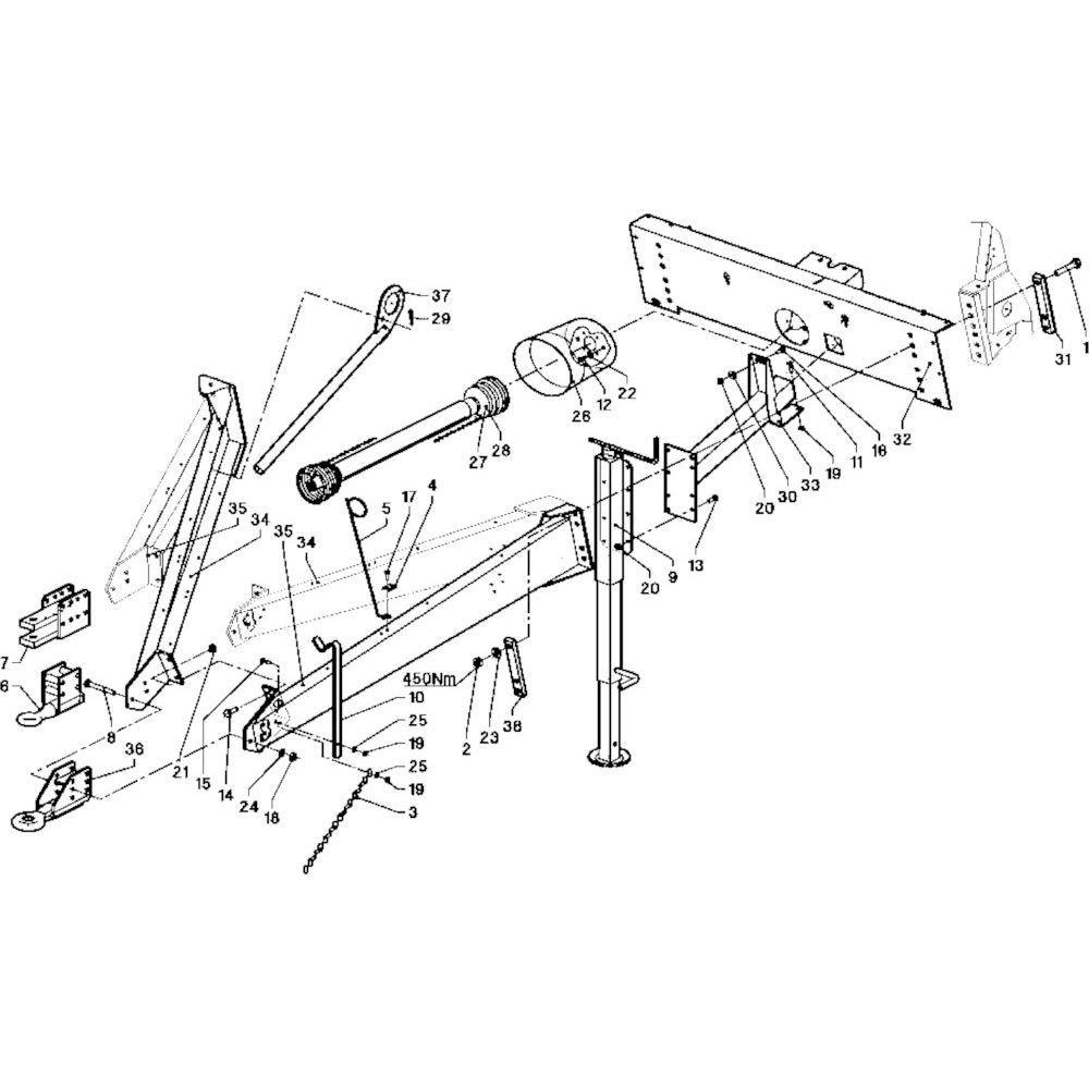 03 Hefinrichting trekoog passend voor DEUTZ-FAHR RB 4.60