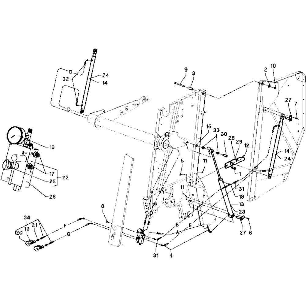 13 Hydraulische blokken passend voor DEUTZ-FAHR RB 4.60 in