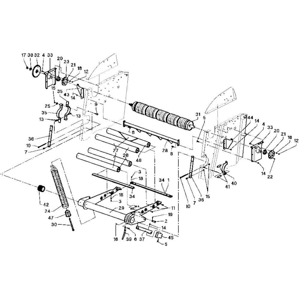 07 Rollen passend voor DEUTZ-FAHR RB 4.60 in Landbouw