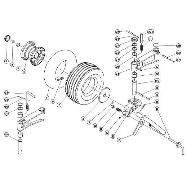 Loopwiel passend voor Kuhn GF 5001 MH / 5001 MHA in