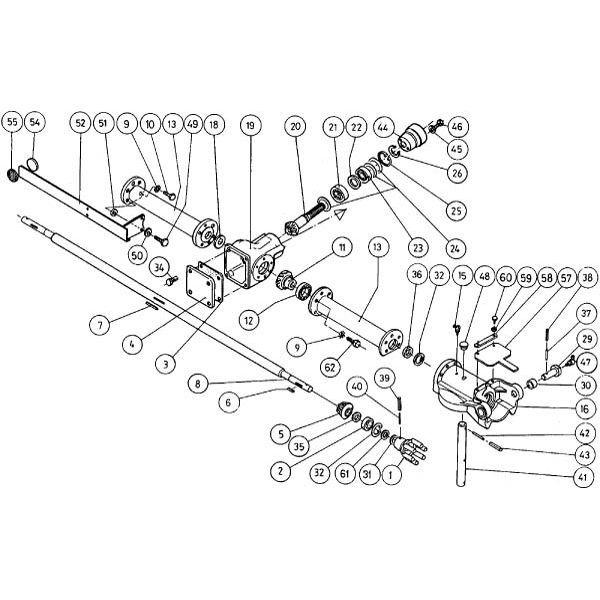 Hoofdaandrijving passend voor Kuhn GF 5001 MH / 5001 MHA