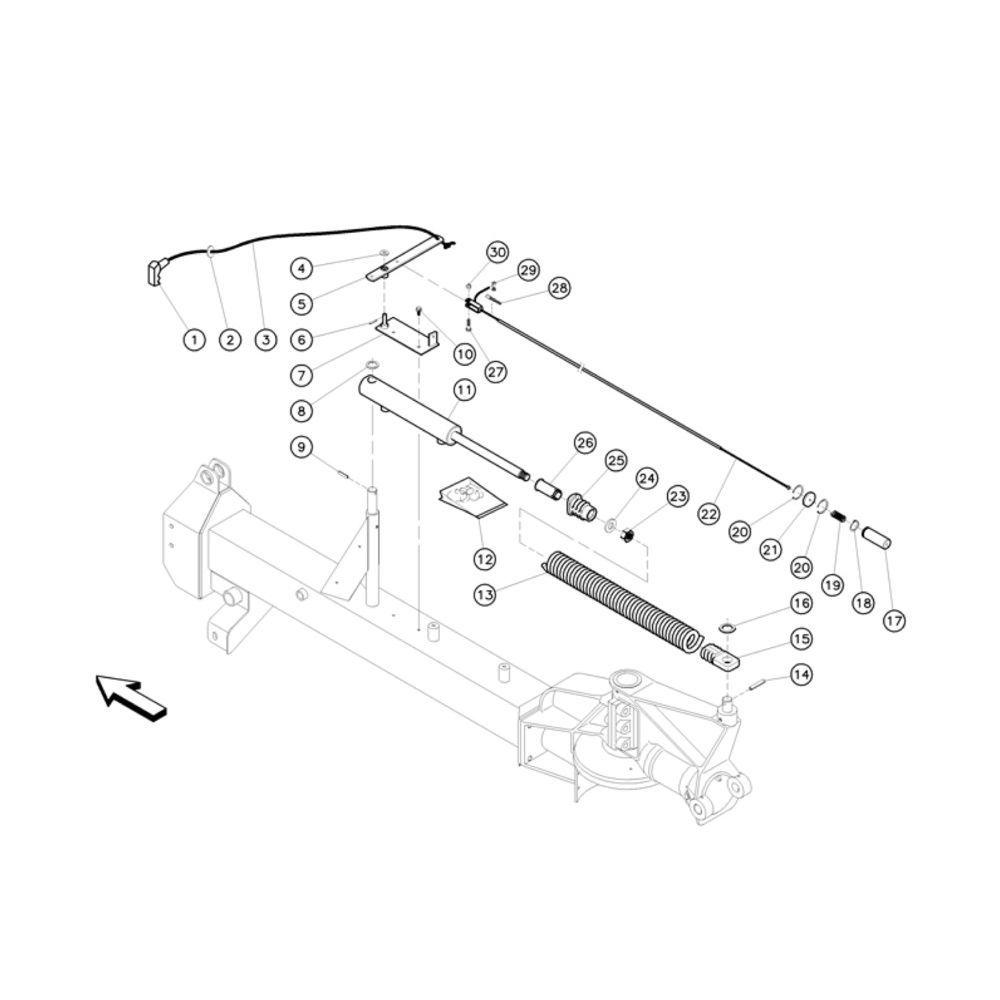 Verstelling passend voor Kuhn GA 6000 in Landbouw