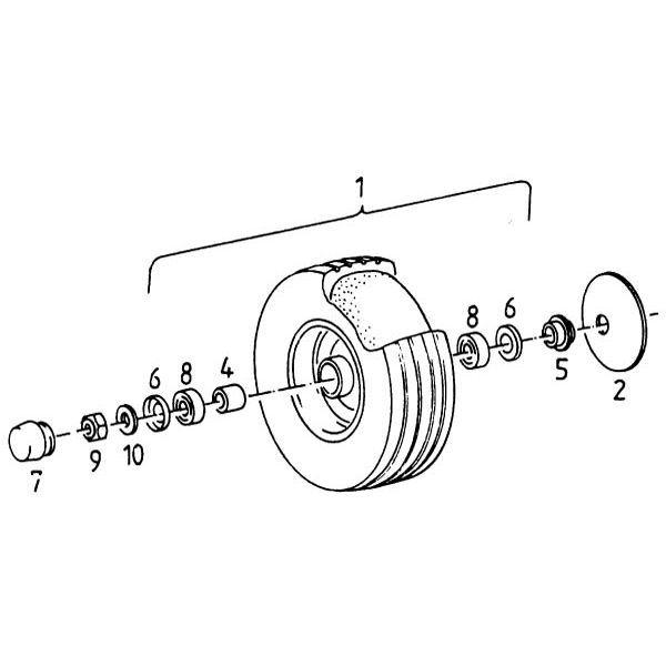 Loopwiel passend voor Deutz-Fahr KH 2.52 DN Hydro Super in