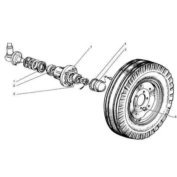 Voorwiel passend voor Belarus MTS 80/82 in Tractor