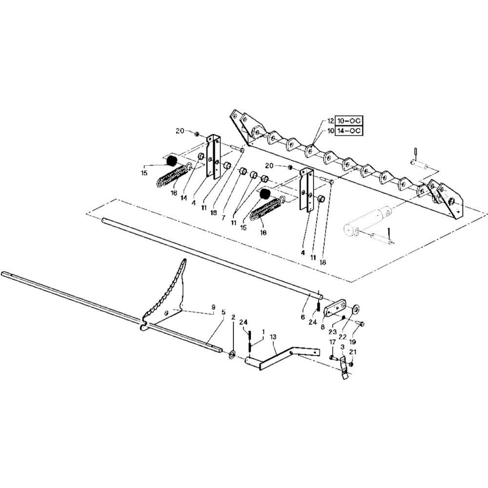 39 Frame R+OC blad passend voor DEUTZ-FAHR RB 4.60 in