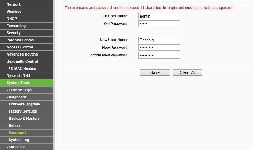 Change Wireless Access Point default password