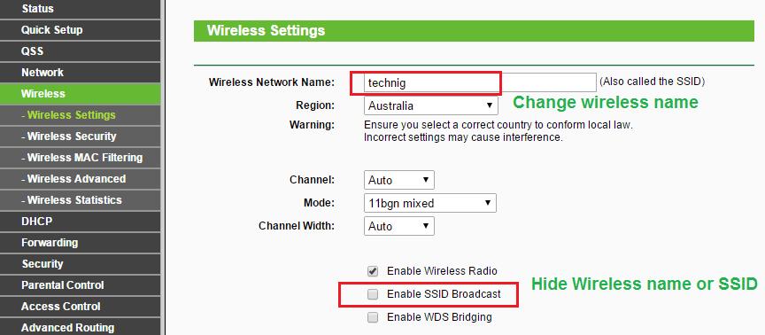 Wireless Name