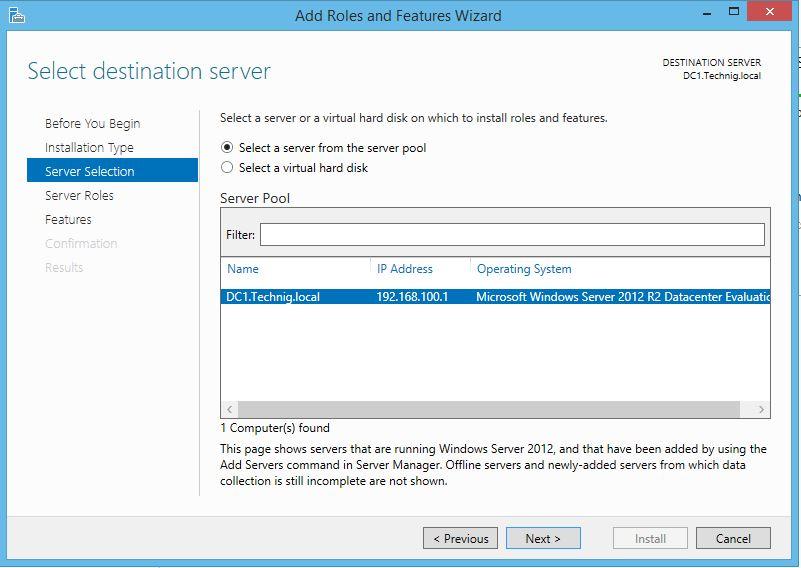 DHCP Server Destination Server