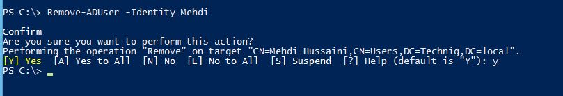 Delete User Account with PowerShell