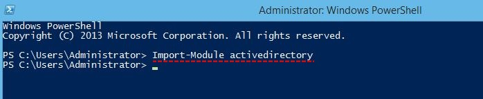 Import Active Directory module