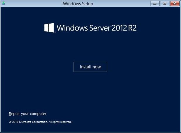 Install Windows now