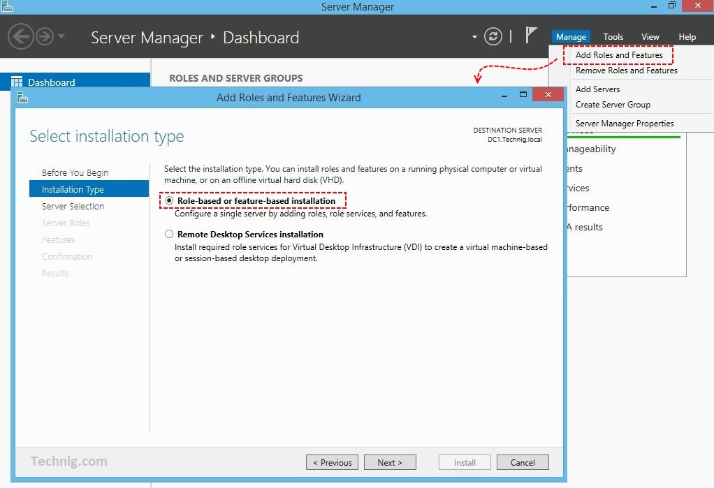how to open server manager dashboard