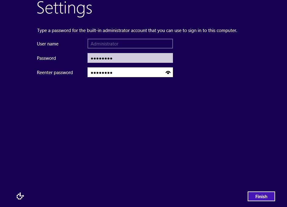 Windows Installation Setting