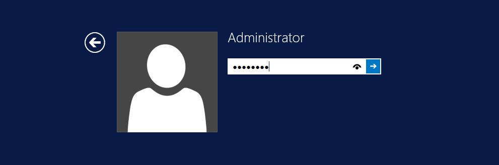 Windows Log in page