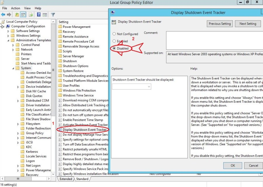 Windows Server 2012 R2 Group policy