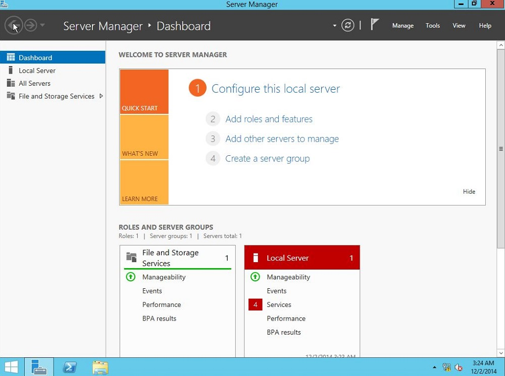 Windows Server 2012 R2 with GUI