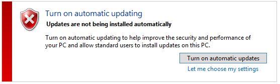 Windows automatic updating