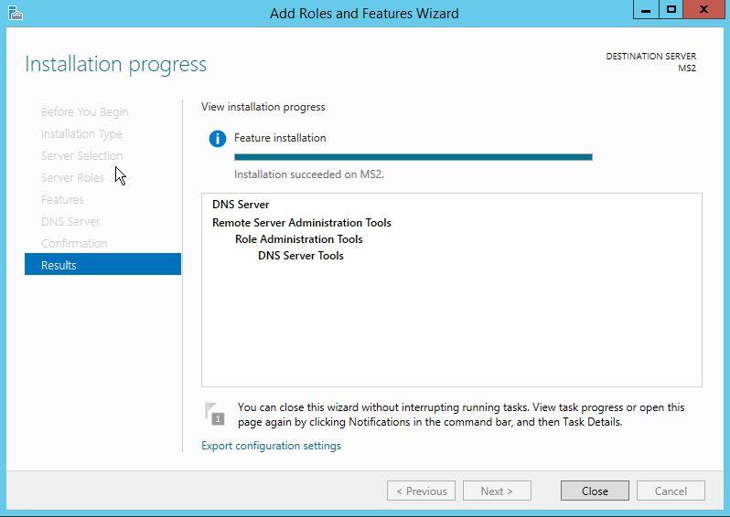DNS Installation Process