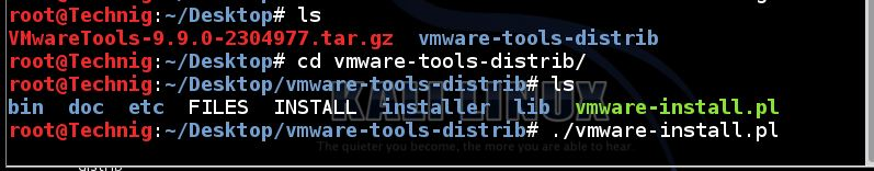 VMware-tools setup files for Linux