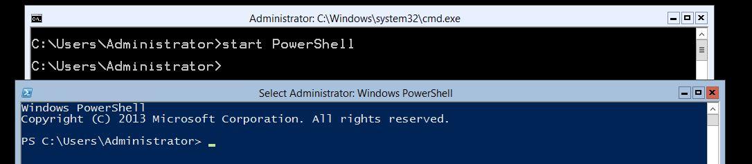 Start PowerShell on Server Core