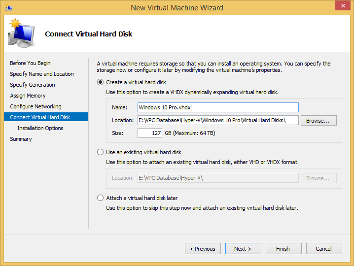 Virtual Machine Hard Disk