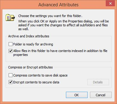 Advanced Attributes - Data Encryption Protection