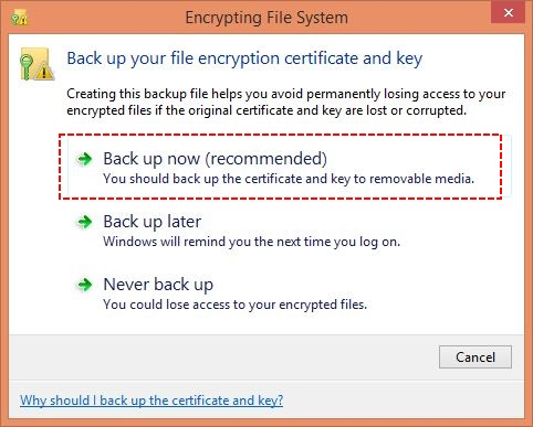 Data Protection and Backup of Encryption Keys