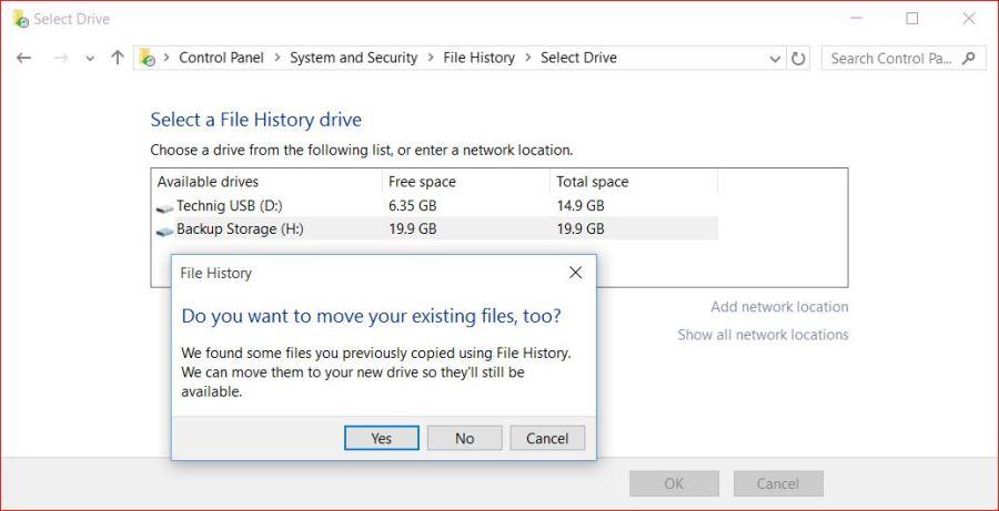 New Backup Storage